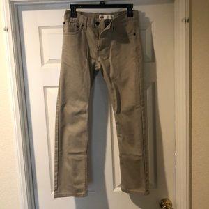 Men's 16 REG 28x28 Tan Slim jeans